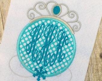 Snow Princess Applique Design - Princess Applique Design - Applique Design - Embroidery Design - Monogram Frame Embroidery Design