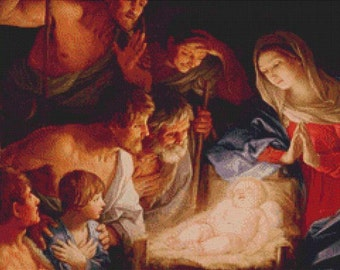 Adoration of the Shepherds PDF Cross Stitch Pattern