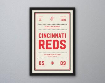 "Cincinnati Reds ""Day & Night"" Print"