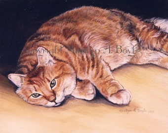 PET PAINTINGS - CUSTOM Orders; cats and dogs, 12 x 16 inch, canvas board, stretched canvas or masonite