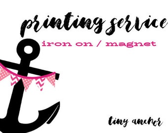 Add To Order Printing Fee | 1 Printed Sheet | Iron On Transfer or Cruise Door Magnet | Flat Rate Shipping