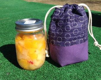 Mason Jar cover, Insulated Mason jar bag, Mason Jar Bag, Mason Jar Gift