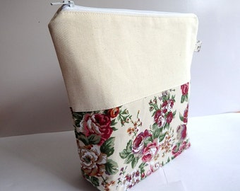 Floral Knitting Project Bag - Small