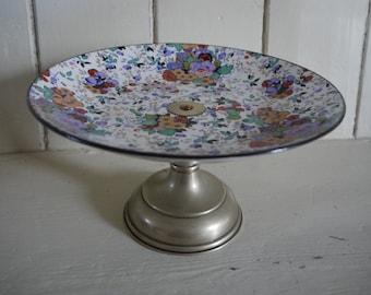 Vintage Cake Stand - Floral