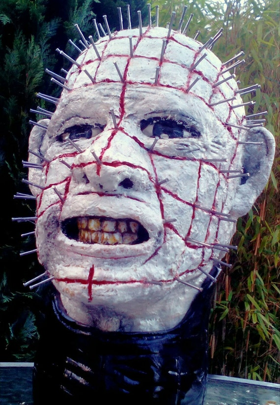 Pinhead/ Hellraiser inspired large bust.