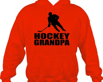 Hockey Grandpa Sweatshirt/ Hockey Grandpa Hoodie/ Hockey Sweatshirt/ Many Colors