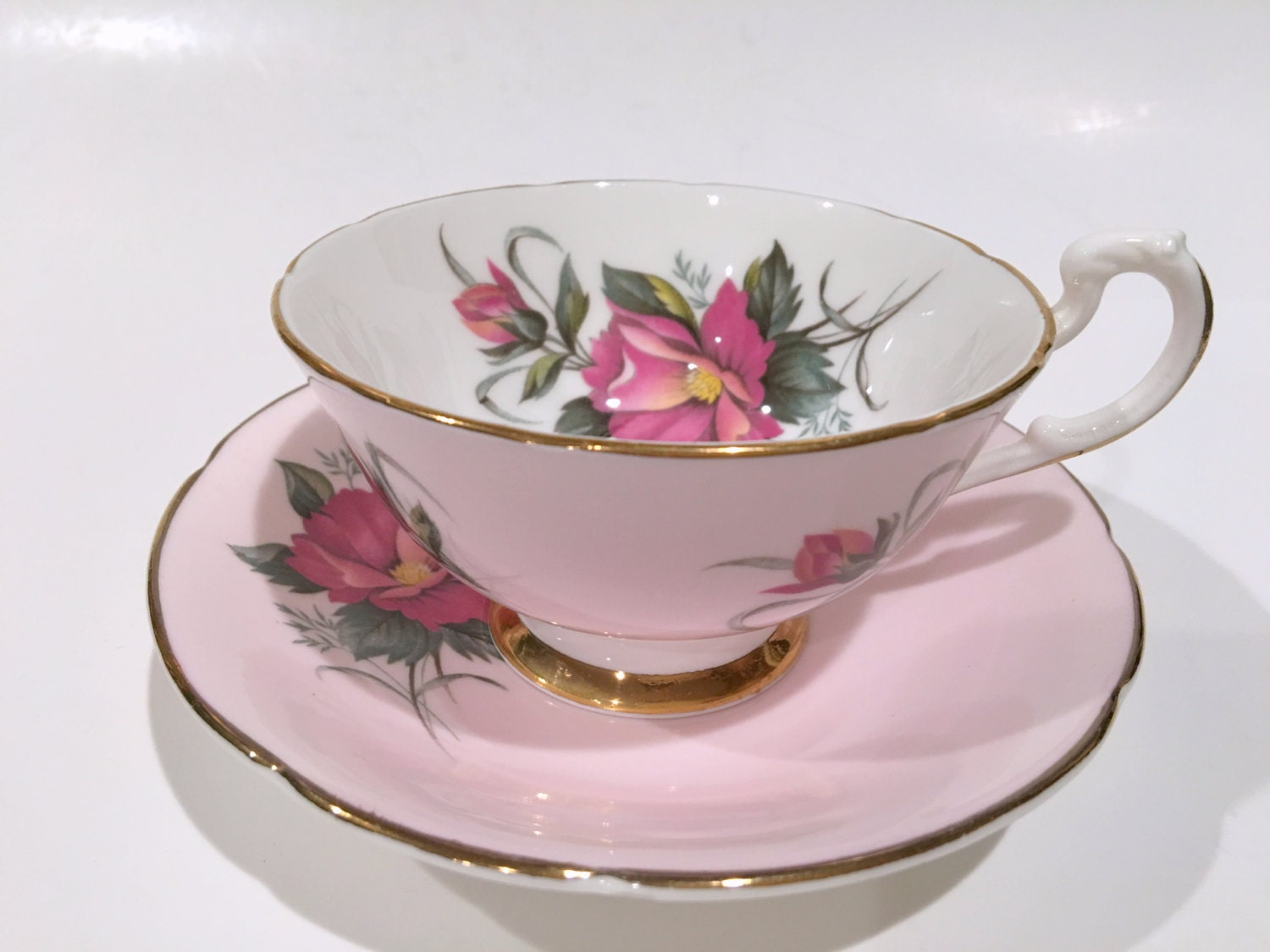 Product - Tea Cup Set 12 Piece Cup & Saucer Set Glass Tea Party Microwave Safe Coffee or Espresso. Product Image. Price $ Product Title. Product - Service for 6 Pink & Grey Striped Flower Medallions Porcelain Cup & Saucer Set. Product Image. Price $ Product Title.