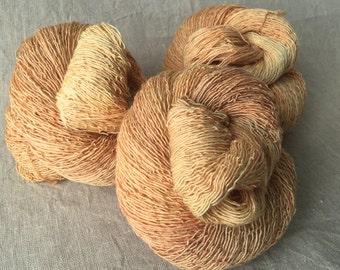 Sand, lace yarn, Merino, silk