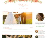 Blogger Template -  Flower Blog Template - Mobile Responsive Blogger Template - Preston Love