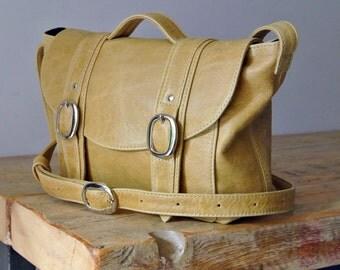 Handmade Beige Leather 'Chloe' Handbag - Can be Personalized