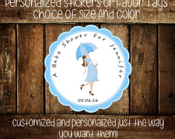Personalized Baby Shower Stickers - Mommy To Be Personalized Stickers-About To Pop Stickers-Party Favors-Shower Stickers-Choice Of Size(142)