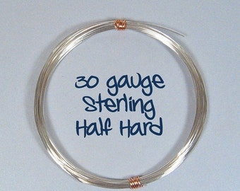Sterling Silver Wire - 30ga HH - Choose Your Length