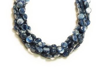 Kyanite Coin Shape Beads 10mm