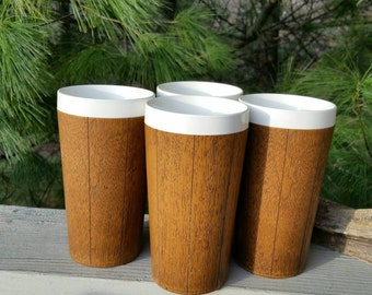 Thermo Serv West Bend Insulated Faux Wood Grain Tumblers