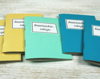 Pocket notes - 5 mini notebooks / / gold