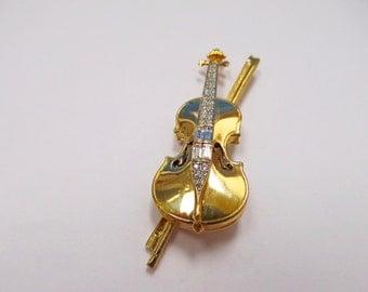 SWAROVSKI Crystal Violin Pin Item W # 276