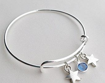 Wish Upon A Star Girl's Star Adjustable Bangle