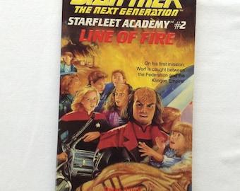 Star Trek The Next Generation - Starfleet Academy #2 - Line of Fire - 1993 - Novel - Paperback - Children -