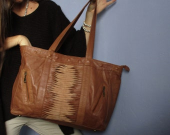 caba cheyenne brown leather bag