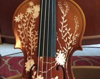 Hand-carved 4 x 4 violin