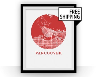 Vancouver Map Print - City Map Poster