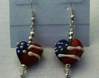 Red white and blue hearts no. 576