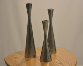 Set of Mid Century Candle Holders