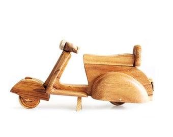 Wooden Toy Vespa (L) in Handmade
