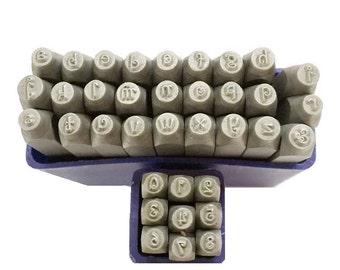 Proops Metalwork Letter and Number Stamp Set, Penguin Font, LOWER CASE, 36 Piece, 1.5mm, Letter A-Z & Number Set. (J1496) Free UK Postage
