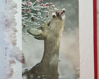 Deer Handmade Christmas Card