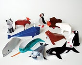 Polar Animals | DIY Paper Craft Kit | 3D Paper Toys | Colourful Cutouts to Assemble | Creative Activity
