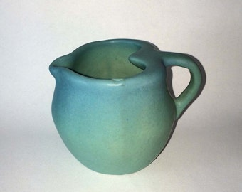 Van Briggle Creamer Pottery Collectible Turquoise Blue-Green