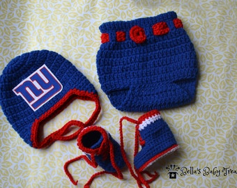 Giants diaper cover and booties