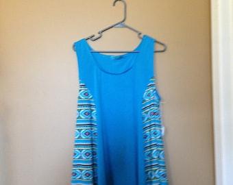 Knit Aqua Blue Tunic Top