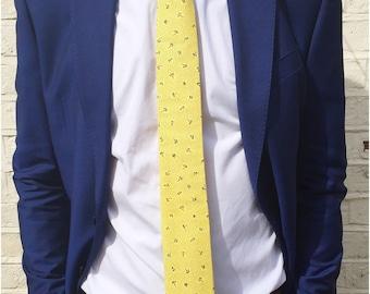 The Hayward skinny Tie in Yellow