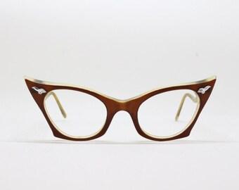 cat eye glasses, 50s frame, vintage eyewear, original eyeyglasses