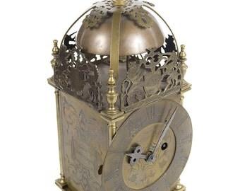 18th century English Brass Lantern Clock - Smeaton ad Londini 1727