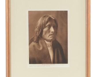 San Juan -original 1905 Native American Tissue Gravure Photograph by Edward Curtis