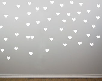 White Heart Wall Decals 2 Inch