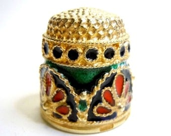 Collectors luxury thimble Csar crown - special edition in gold plated (832Fi011)