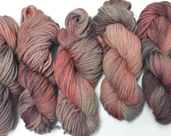 Hand dyed 100 % virgin wool