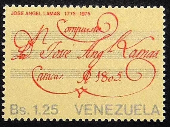 Items Similar To Jose Angel Lamas Composer 1775 1975
