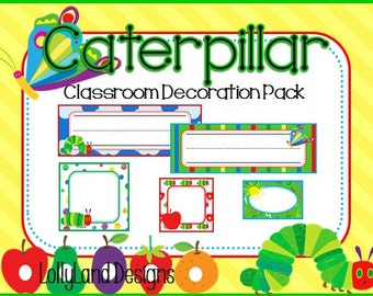 Caterpillary Classroom Decoration Pack