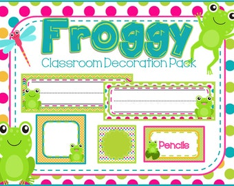 Froggy Classroom Decoration Pack