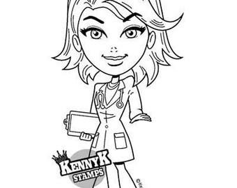 Kenny K Hot Doctor Rubber Stamp