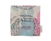 One of a Kind Coasters, Set of Four - Made in Hawaii by Jana Lam