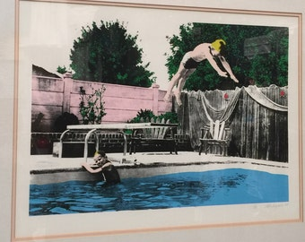 Pool Diving serigraph