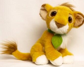Vintage 90's Adorable LION KING Authentic Disney Plush Roaring Simba