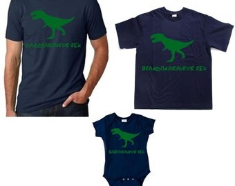 Family dinosaur shirt set dinosaur family tees Daddy dinosaur Mommy dinosaur