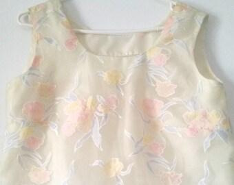 Vintage Sheer Floral Top